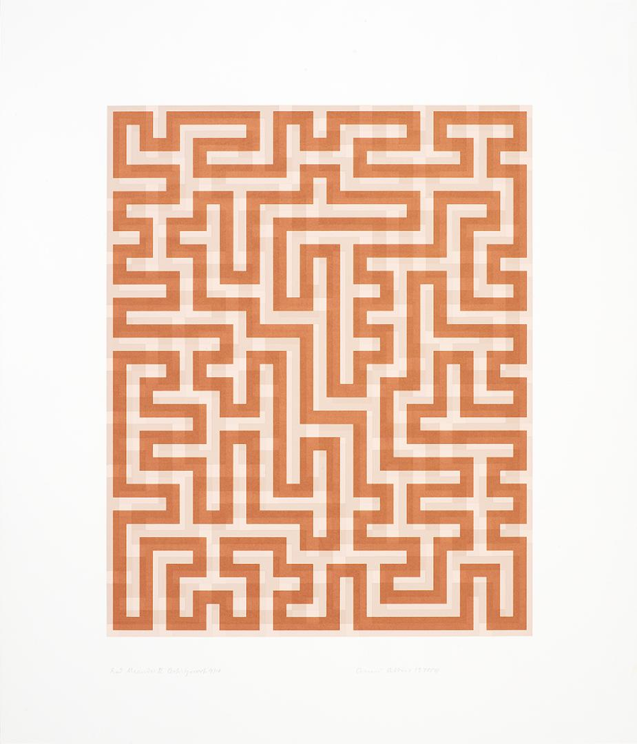 Anni Albers, Red Meander II, 1970-1971. The Josef and Anni Albers Foundation, 1994.11.17. Photo: Tim Nighswander/Imaging4Art. © The Josef and Anni Albers Foundation/Artists Rights Society, NY. D.R. © Anni Albers/ARS/VG Bild-Kunst/SOMAAP/México/2020.