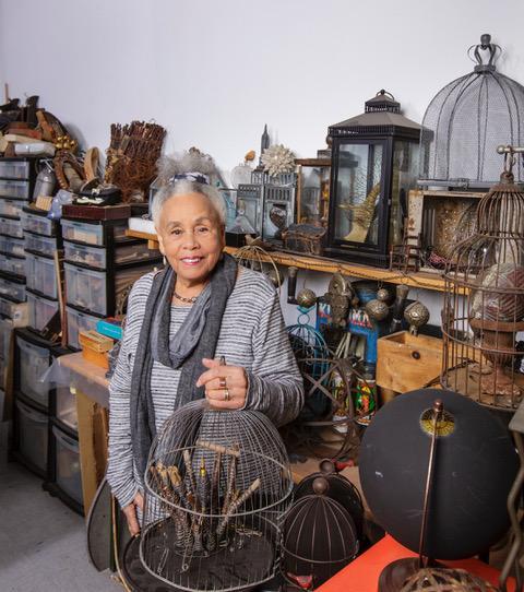 Betye Saar. Photo by David Sprague, courtesy the artist and Roberts Projects, Los Angeles. © Betye Saar.