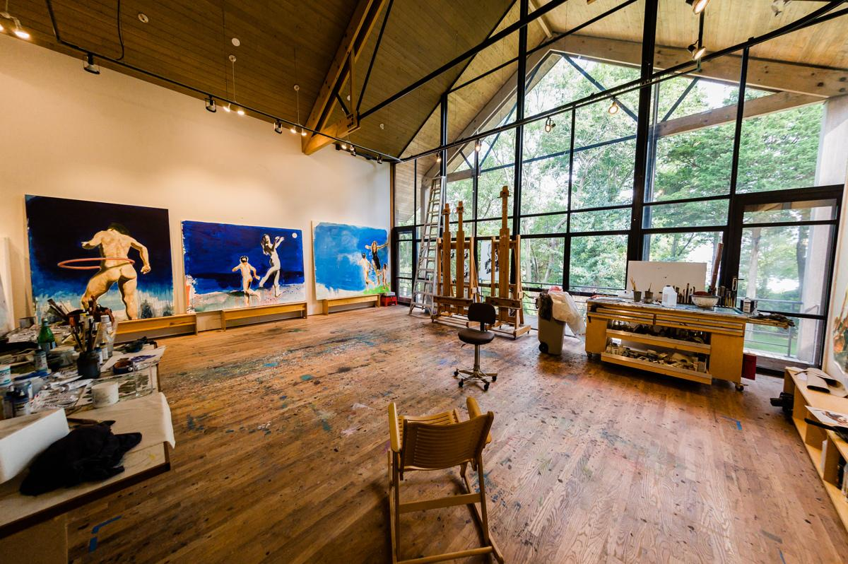 Eric Fischl studio, Sag Harbor, NY. Photo: Mark Kopko Photography