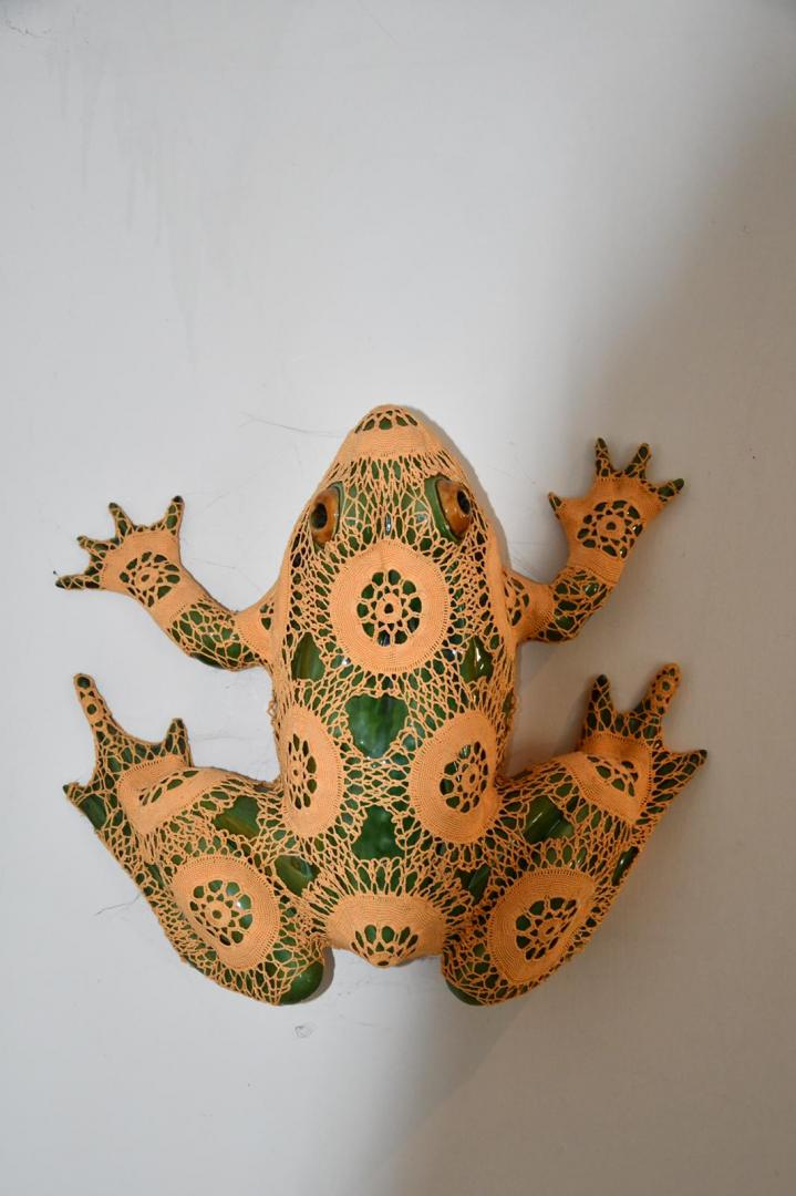 A sculpture by Joana Vasconcelos in the home of Matt Carey-Williams