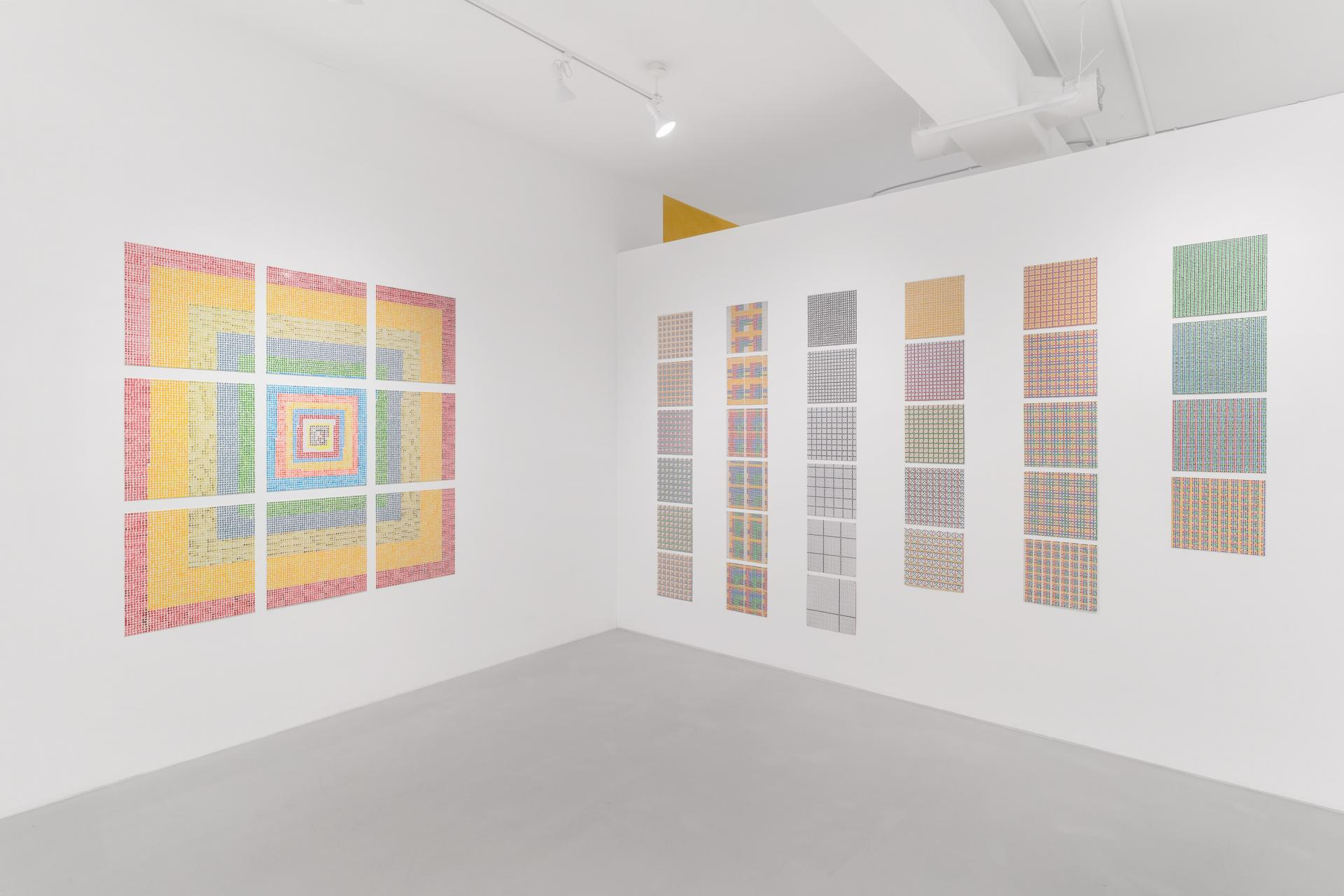 Installation view, Jennifer Bartlett: Grids & Dots, Paula Cooper Gallery, 243A Worth Avenue, Palm Beach, FL, January 16 – February 7, 2021. Photo: Michael Lopez with Zachary Balber.