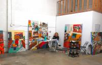 Portrait of Hilary Pecis in her studio. Courtesy the artist