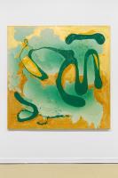 """Buhlebezwe Siwani, """"Inkanyamba,"""" 2020. Mixed media on canvas, 150 × 150 cm. Courtesy the artist and Madragoa."""