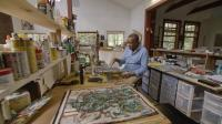 "The scholar David Driskell, pictured in a still from the HBO documentary ""Black Art: In the Absence of LIght."" Image courtesy of HBO."