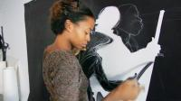 "The artist Kara Walker, pictured in a still from the HBO documentary ""Black Art: In the Absence of LIght."" Image courtesy of HBO."