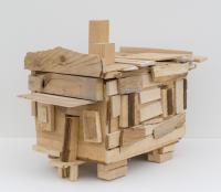 Beverly Buchanan, Turned Over House, 2010. Wood, 13 x 9.5 x 14.5 inches. Image courtesy Andrew Edlin gallery, New York.