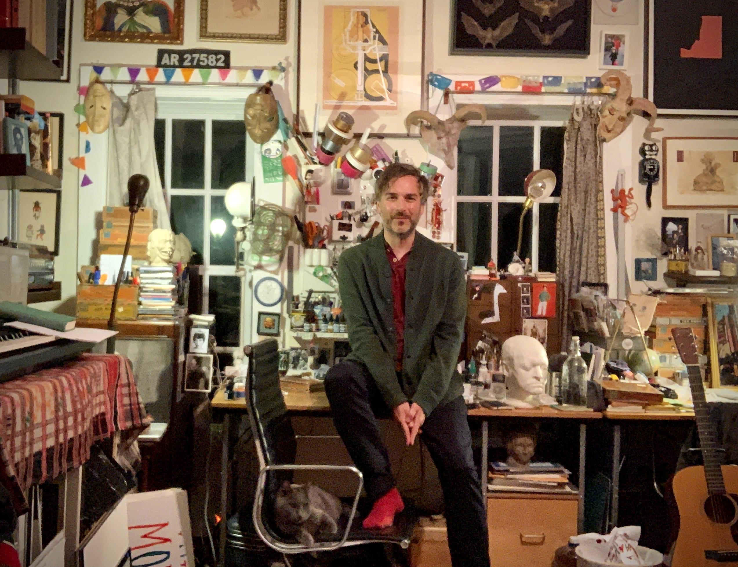 Portrait of Marcel Dzama, 2020 Courtesy the artist and David Zwirner