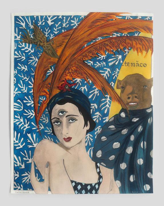 Marcel Dzama, I am her minotaur and she is my matador, 2020 © Marcel Dzama Courtesy the artist and David Zwirner