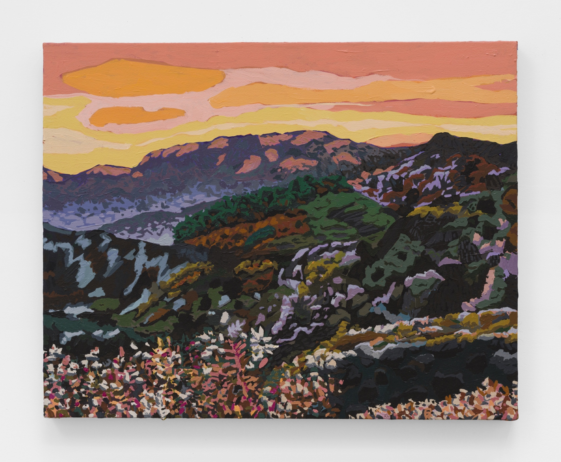 "Hilary Pecis, ""Santa Monica Mountains,"" 2020. Courtesy the artist and Rachel Uffner Gallery"