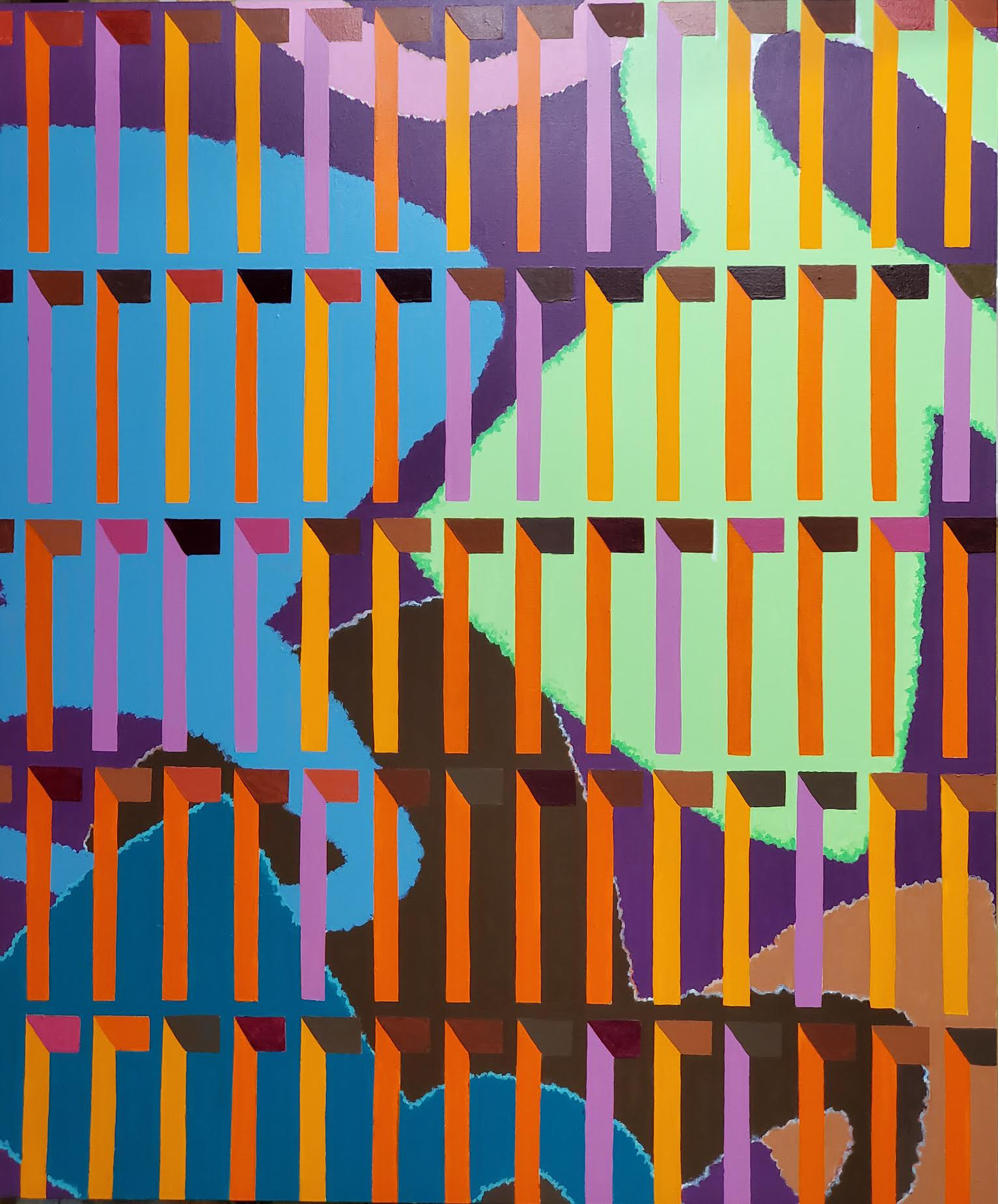 "Dewey Crumpler, ""Bright Moments,"" 2020. Acrylic on canvas, 72 x 60 inches. Courtesy the artist and Jenkins Johnson."