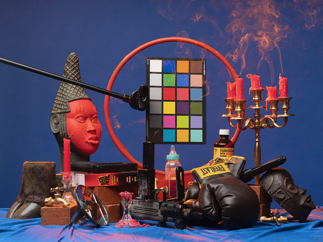 "Awol Erizku, ""Black Fire (Mouzone Brothas),""