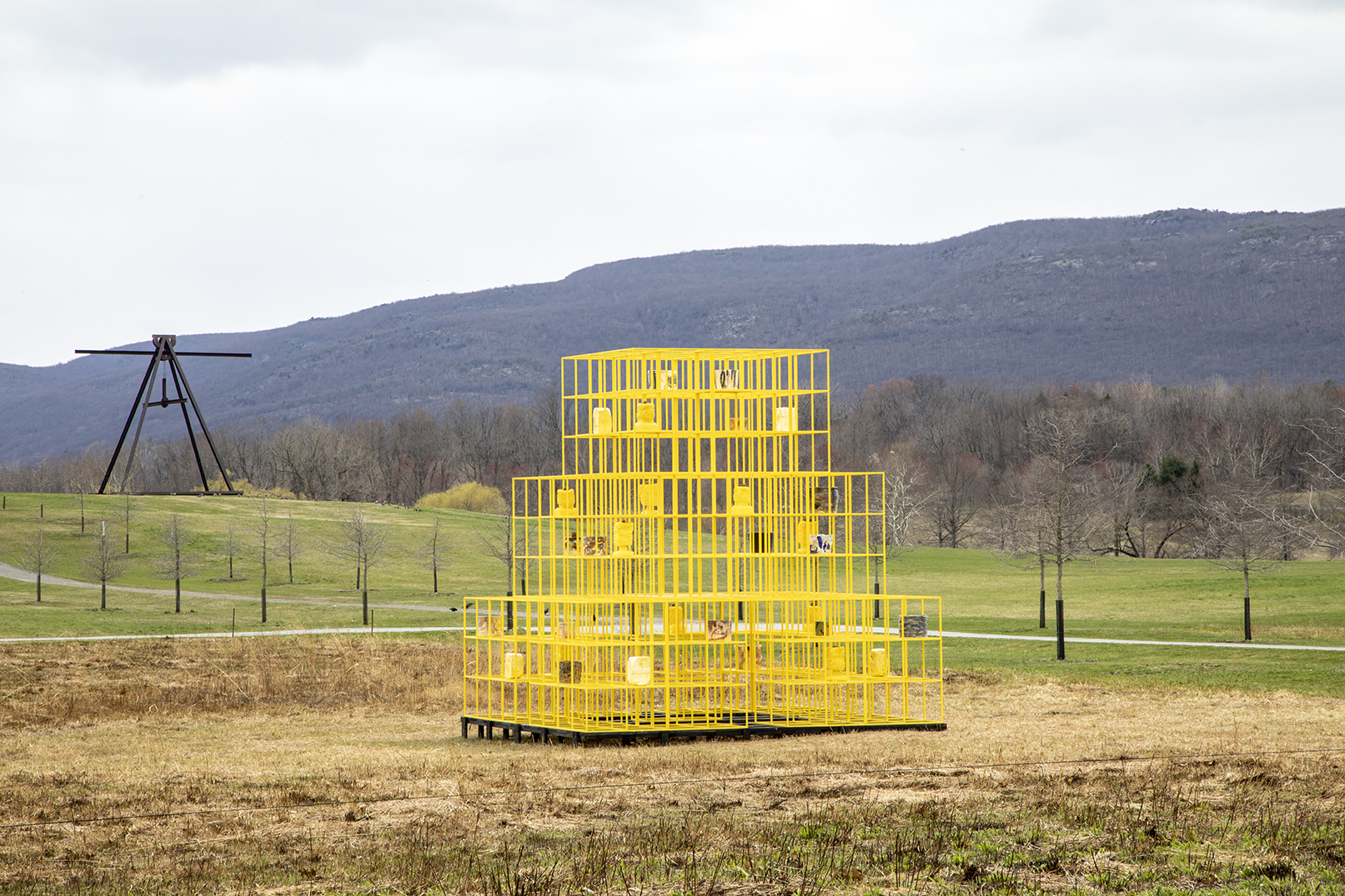 Rashid Johnson, The Crisis (2019). Courtesy of the artist and Hauser & Wirth. Photo: Stephanie Powell. Courtesy of Storm King Art Center