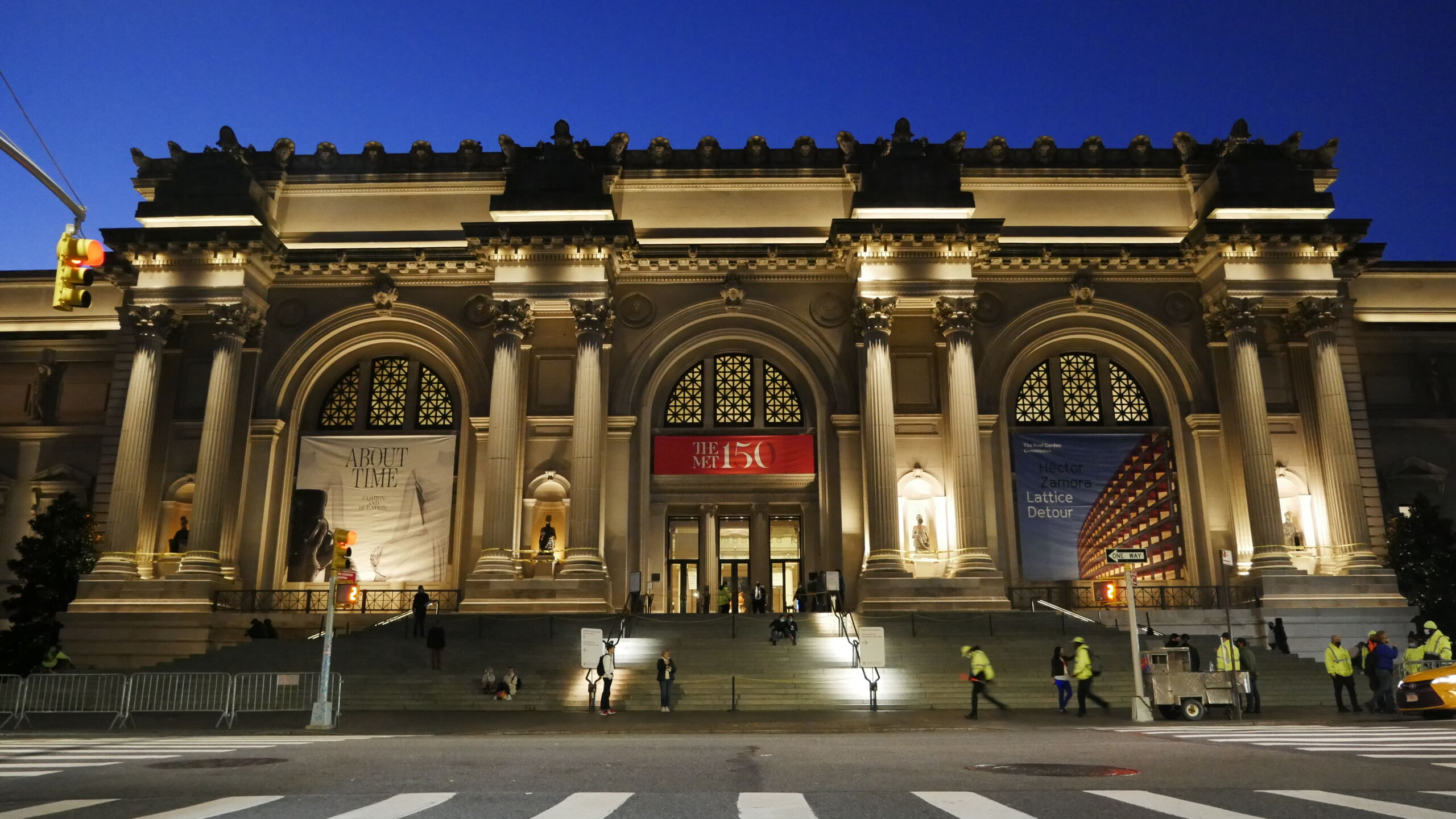 The Met Museum, New York, as the Wangechi Mutu's sculptures are installed. Credit: Eddie Knox © Oxford Films, 2021. Image courtesy PBS.
