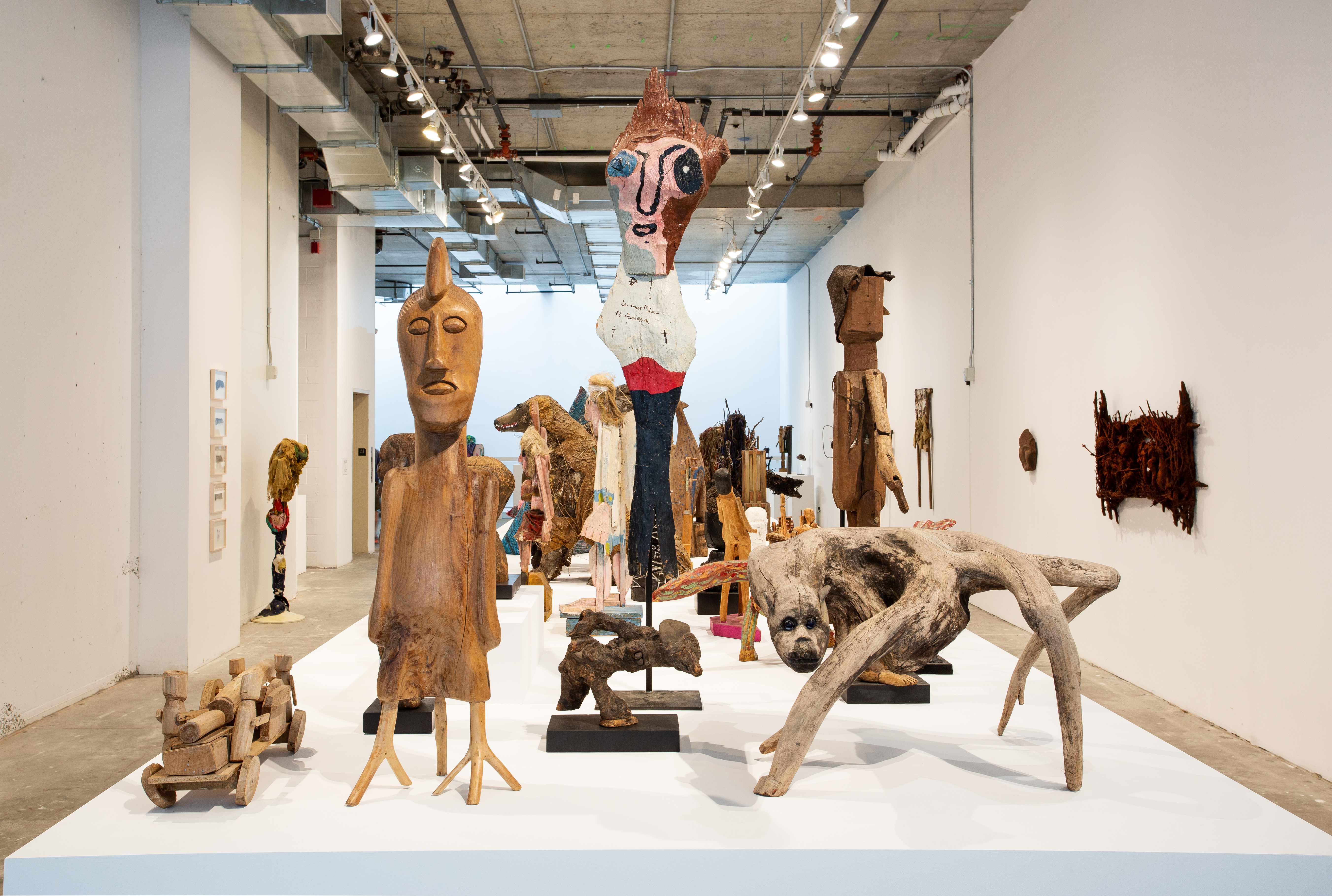 """Installation view of """"Super-Rough."""" Organized by the Outsider Art Fair with guest curator Takashi Murakami. Photo Credit: Olya Vysotskaya. Courtesy of the Outsider Art Fair"""