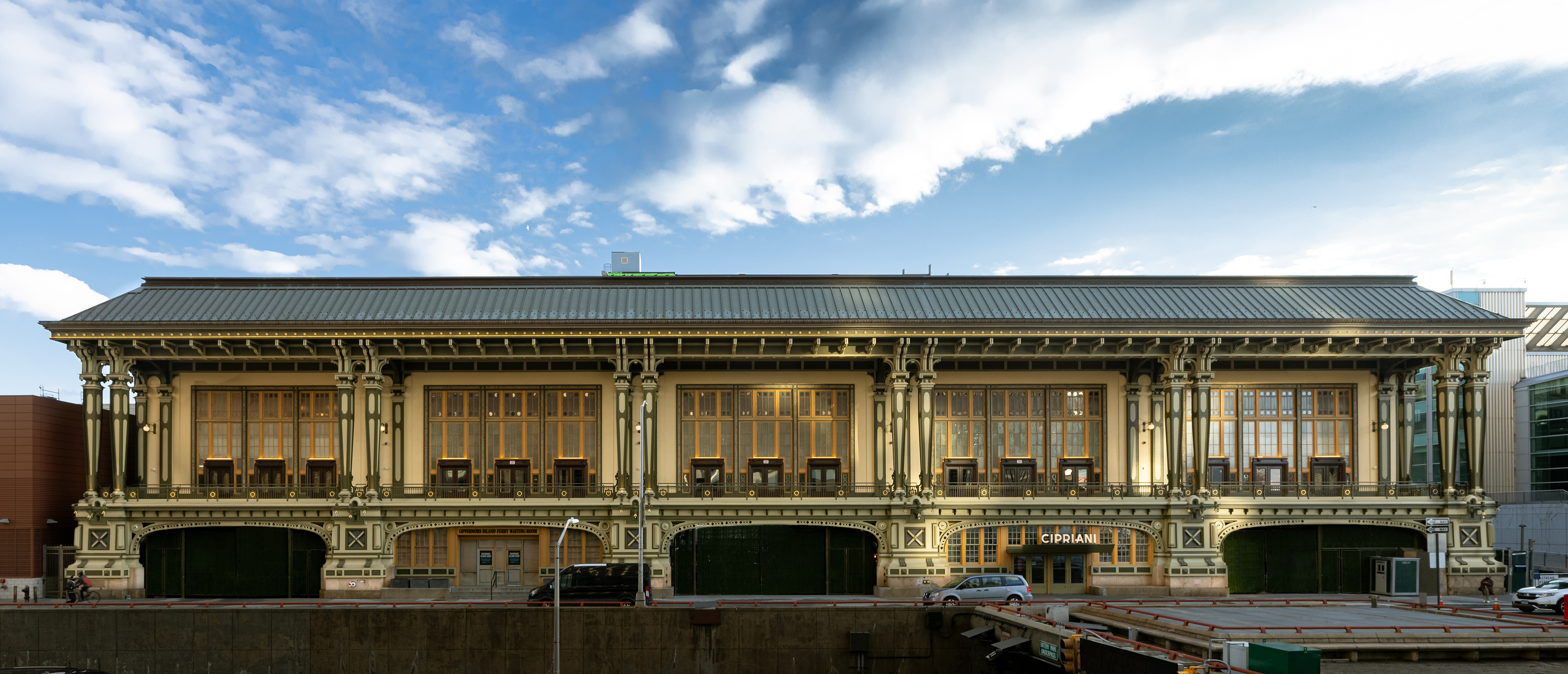 Cipriani South Street at the Battery Maritime Building, the venue for the 2021 Independent Art Fair. Courtesy of Etienne Frossard and Independent New York.