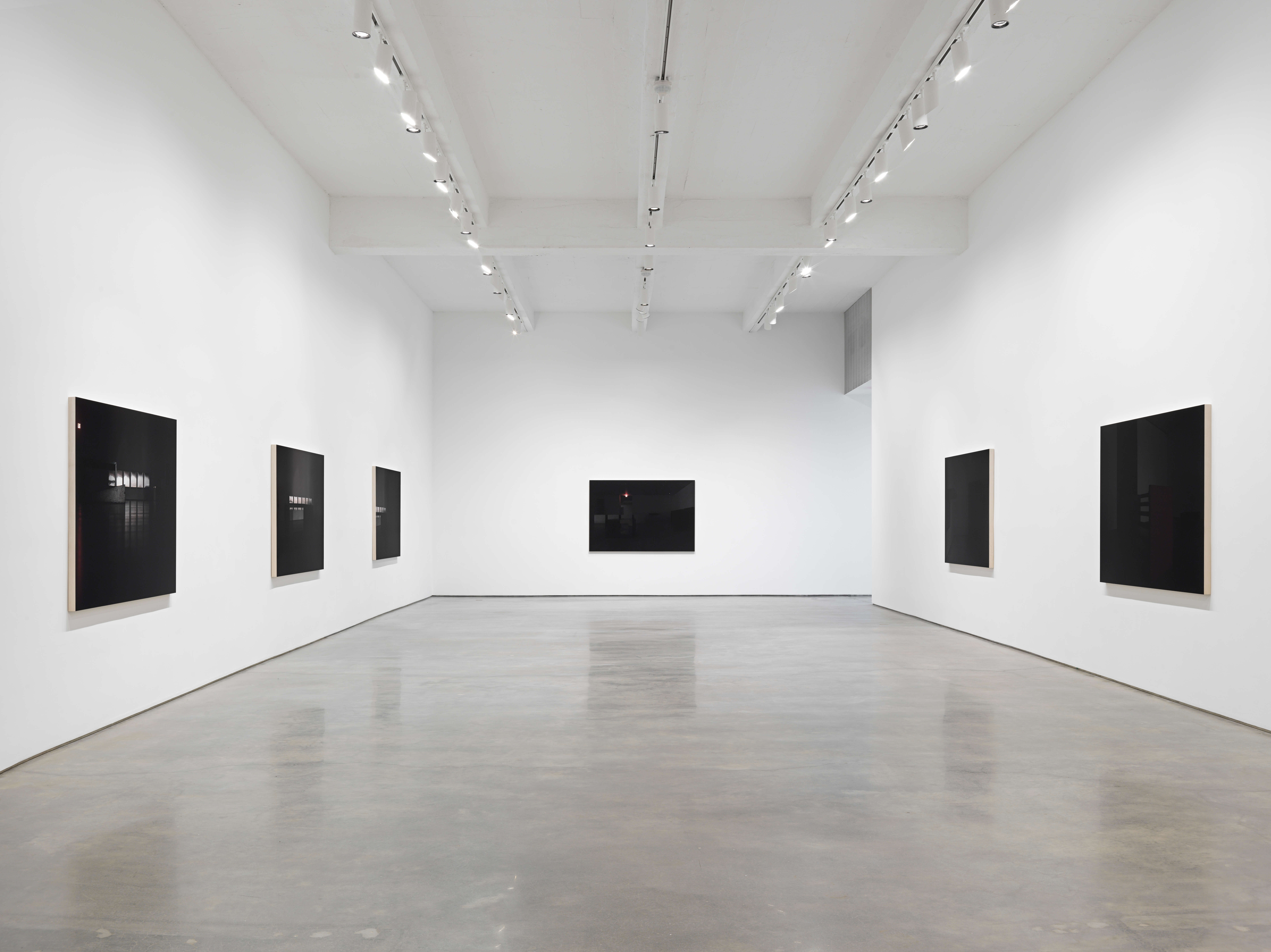 """Louise Lawler, """"LIGHTS OFF, AFTER HOURS, IN THE DARK."""" Installation view, 2021. Metro Pictures, New York."""