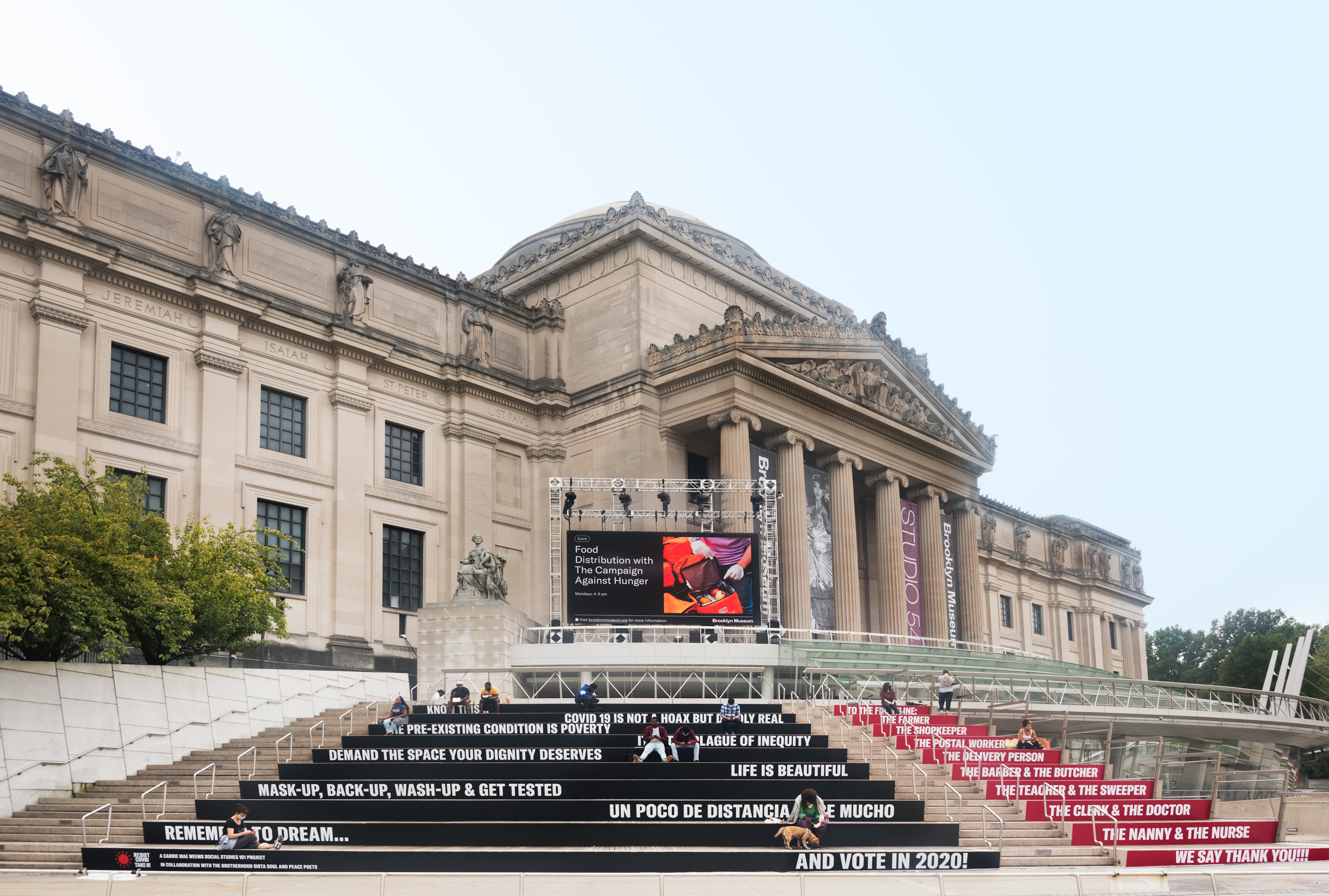 The exterior facade of the Brooklyn Museum. Photography by Jonathan Dorado. Image courtesy of the Brooklyn Museum