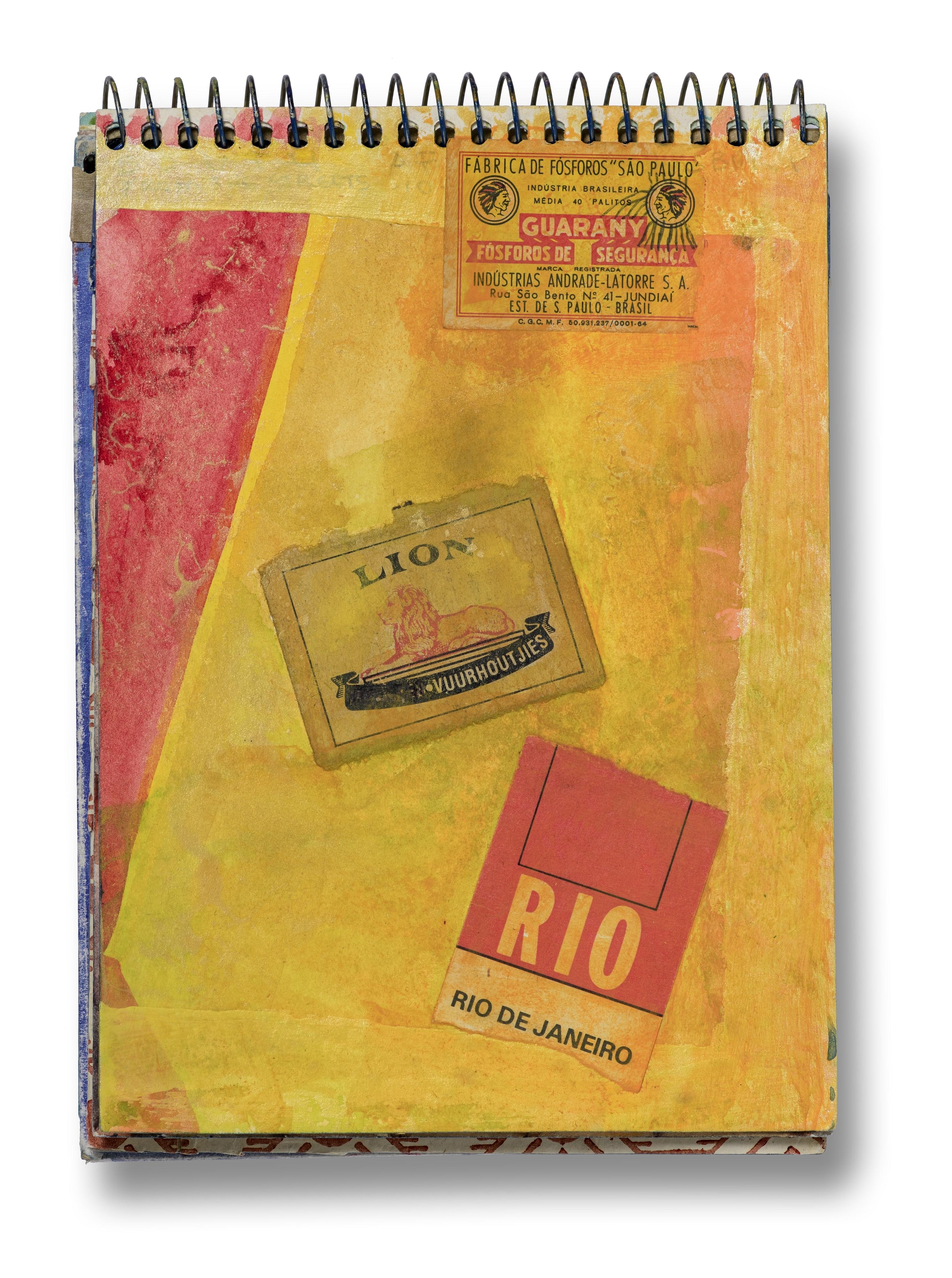 Betye Saar, Page from Brazil sketchbook, 1994.