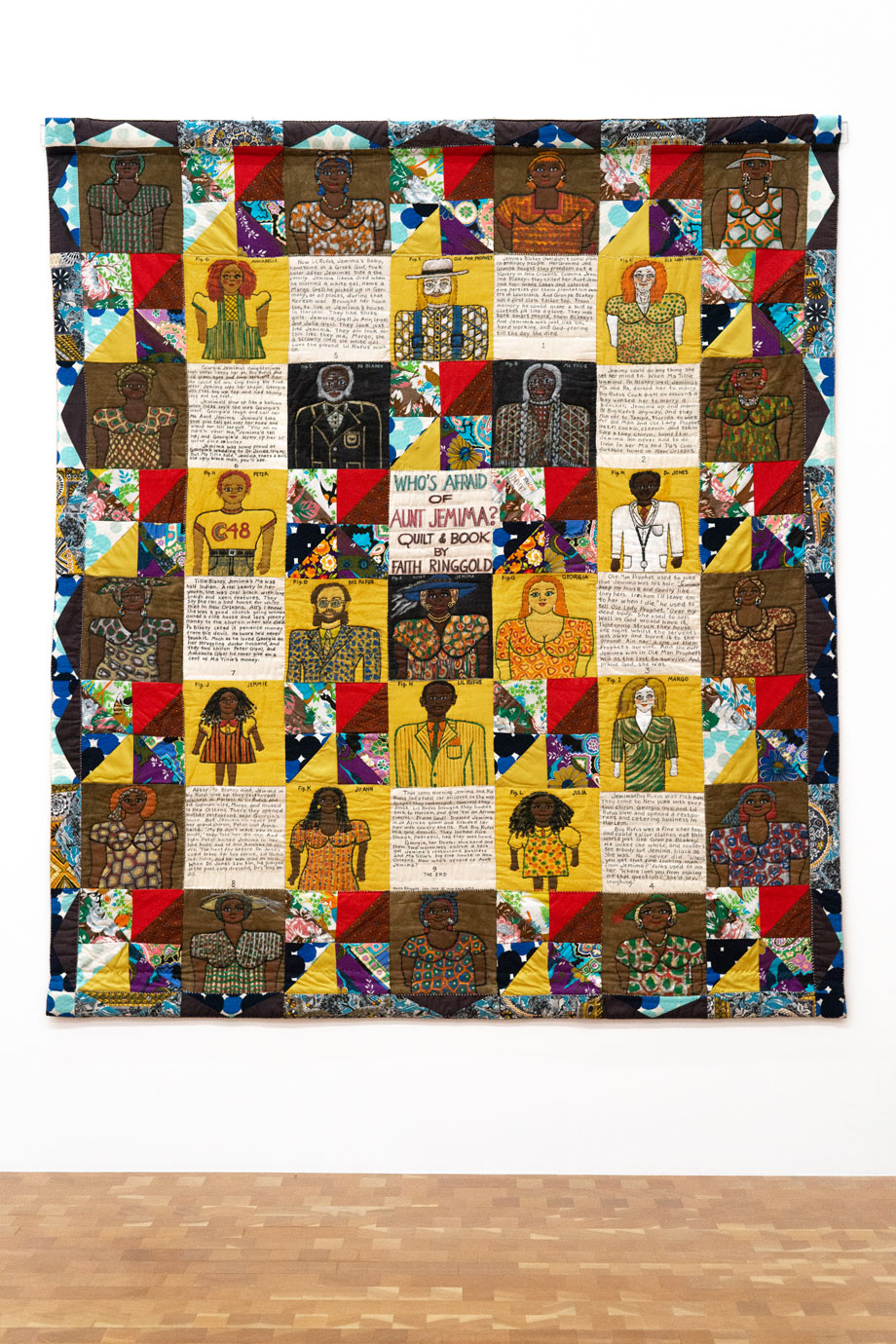 Faith Ringgold Who's Afraid of Aunt Jemima?, 1983 acrylic on canvas 90 in x 80 in © 2020 Faith Ringgold / Artists Rights Society (ARS), New York, Courtesy ACA Galleries, New York Courtesy: Glenstone Museum
