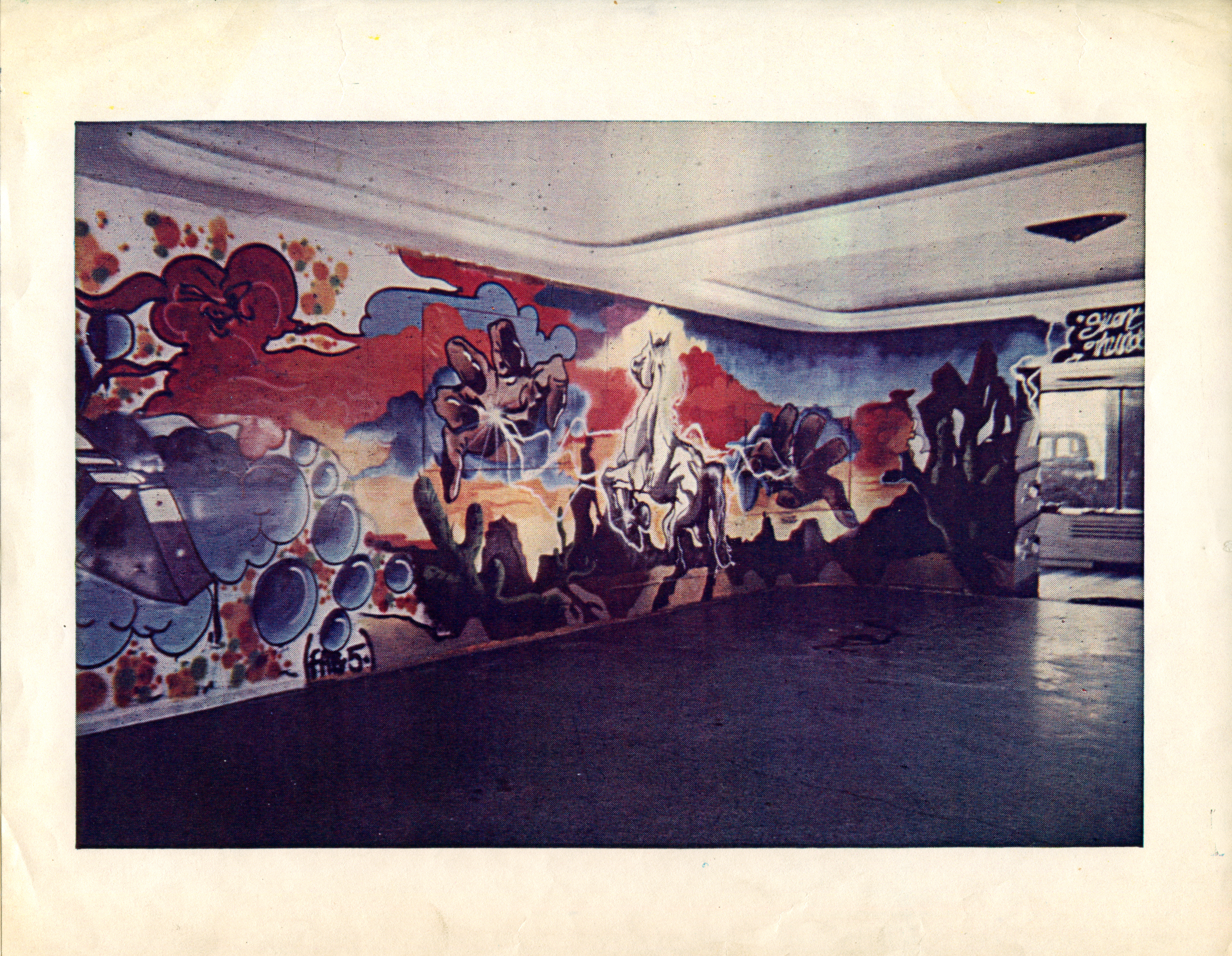 Installation shot of Lee Quinones and Fred Braithwaite at White Columns, September 30-October 11, 1980. Image courtesy of White Columns.