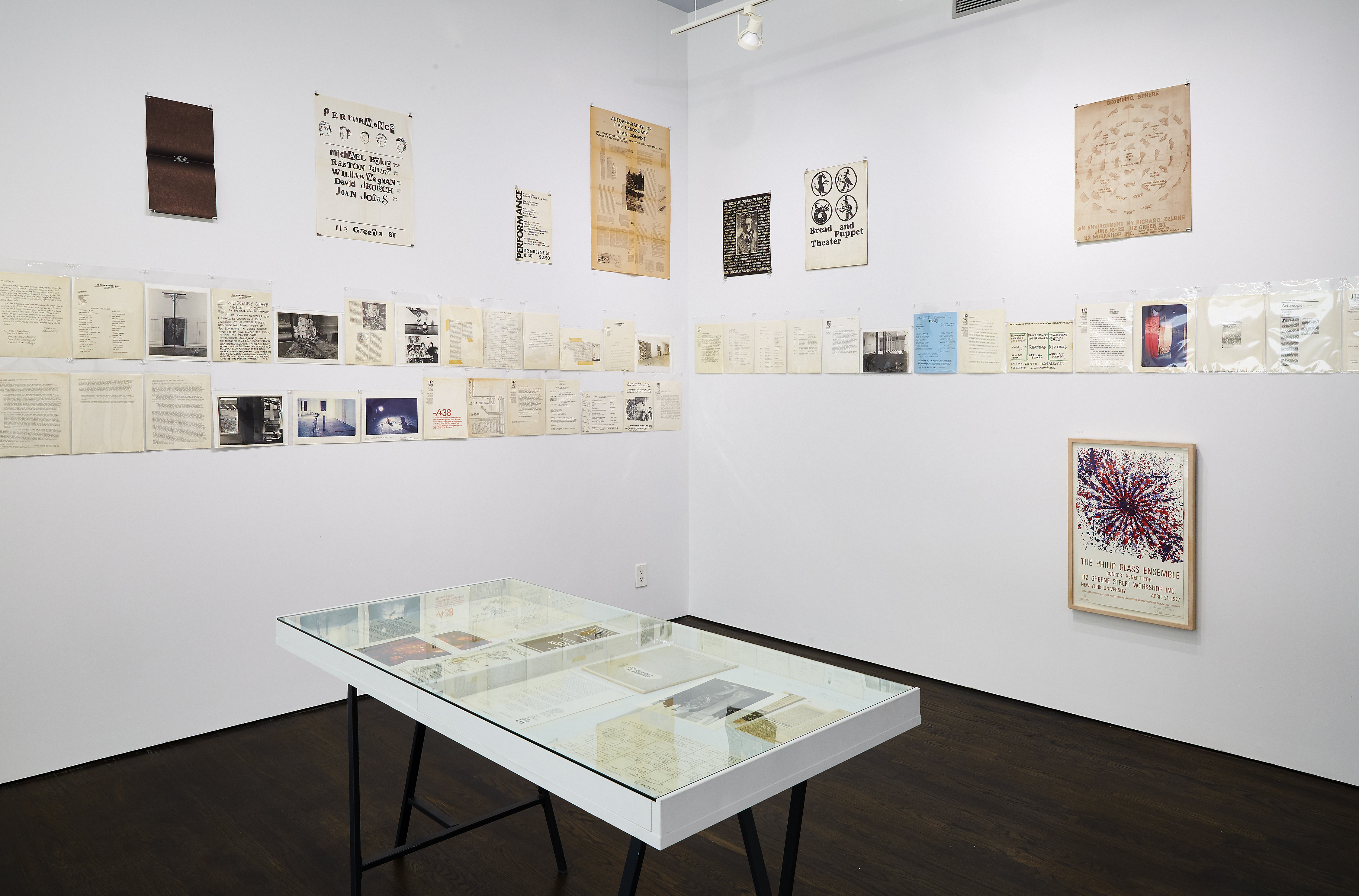 """Installation view of """"From The Archives: White Columns & 112 Greene Street – 1970-2021 …"""" at White Columns, June 5–July 31, 2021. Courtesy of White Columns. Photography by Marc Tatti."""