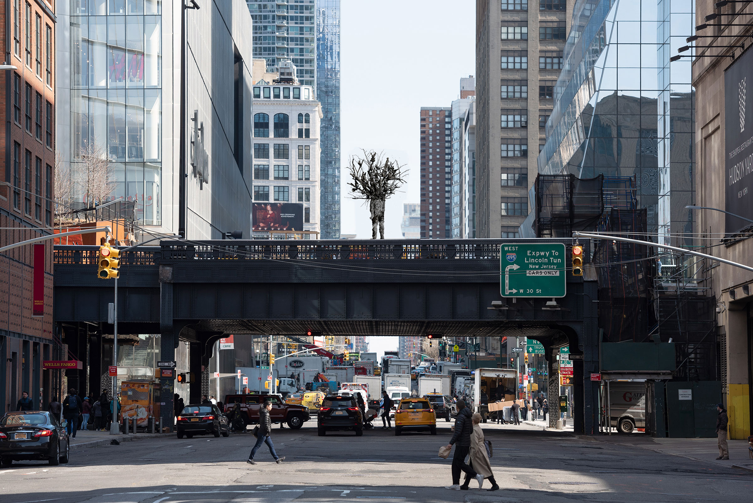 A rendering of a proposal for the High Line Plinth, Nick Cave's A·mal·gam.