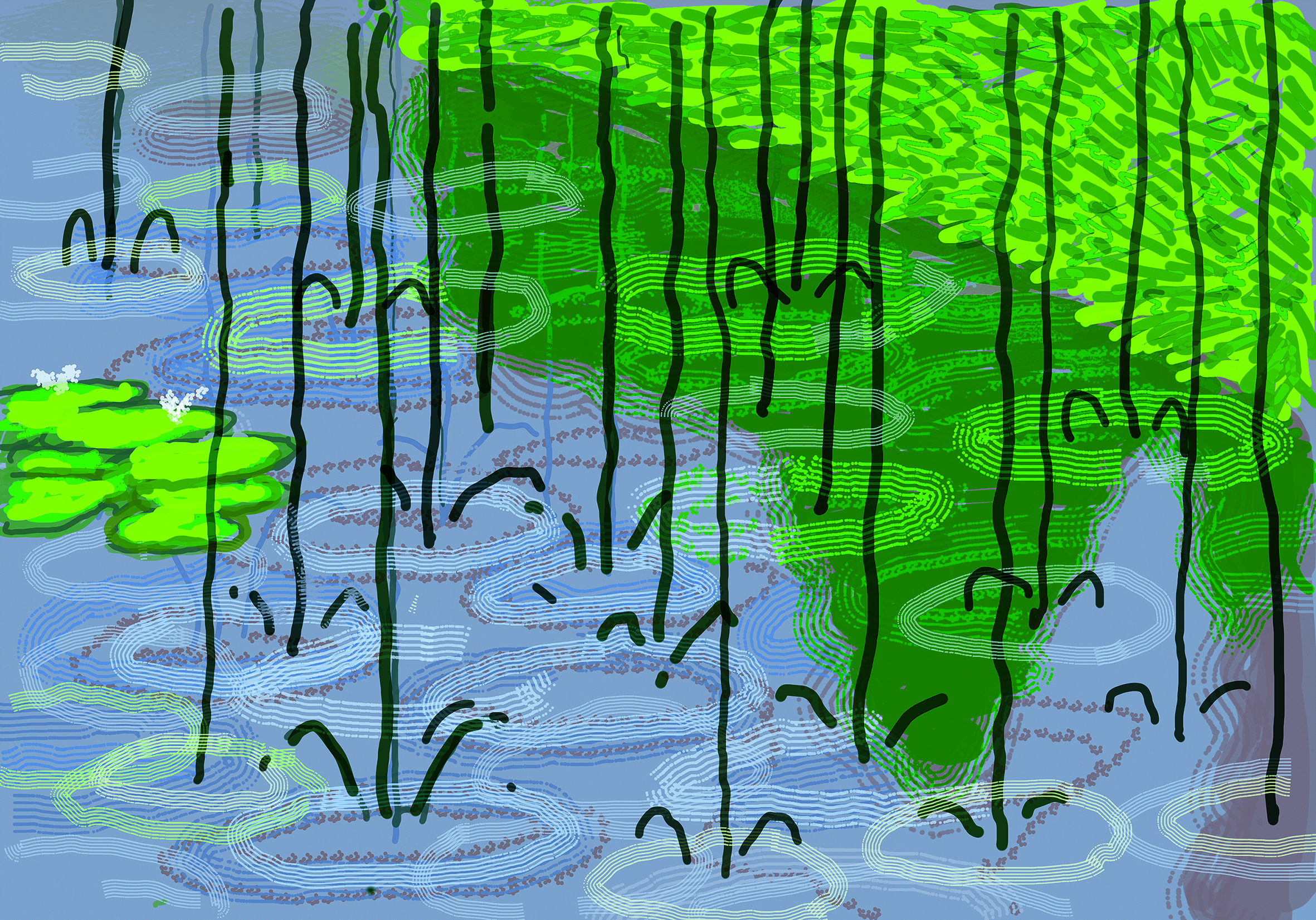 "Page 182: David Hockney ""No. 263"", 28th April 2020 iPad painting © David Hockney"