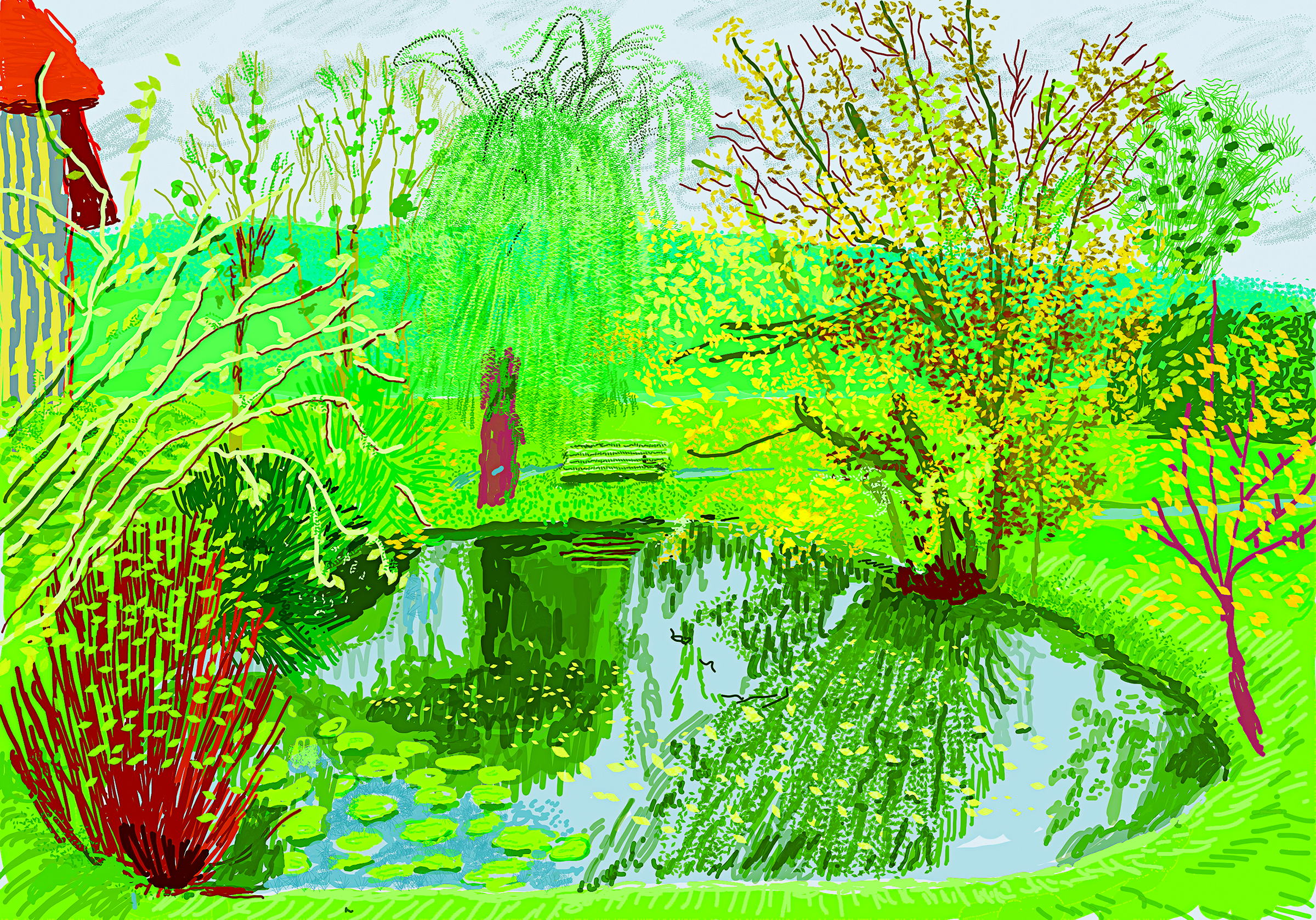 "Page 267: David Hockney ""No. 599"", 1st November 2020 iPad painting © David Hockney"