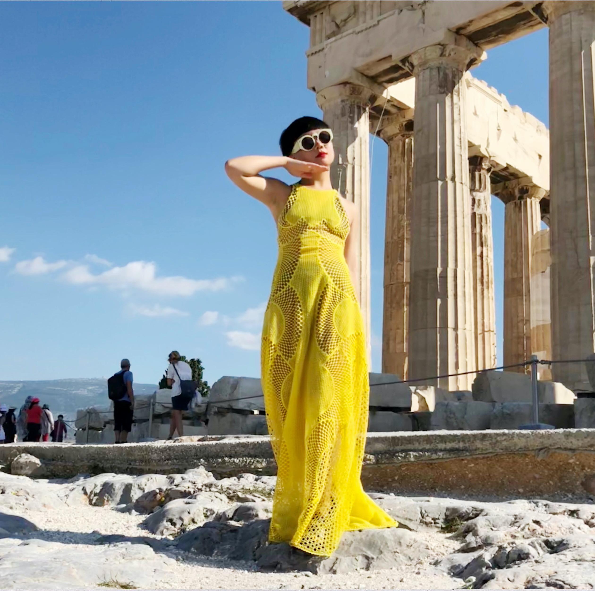 JiaJia Fei at the Acropolis, Athens, Greece, 2018
