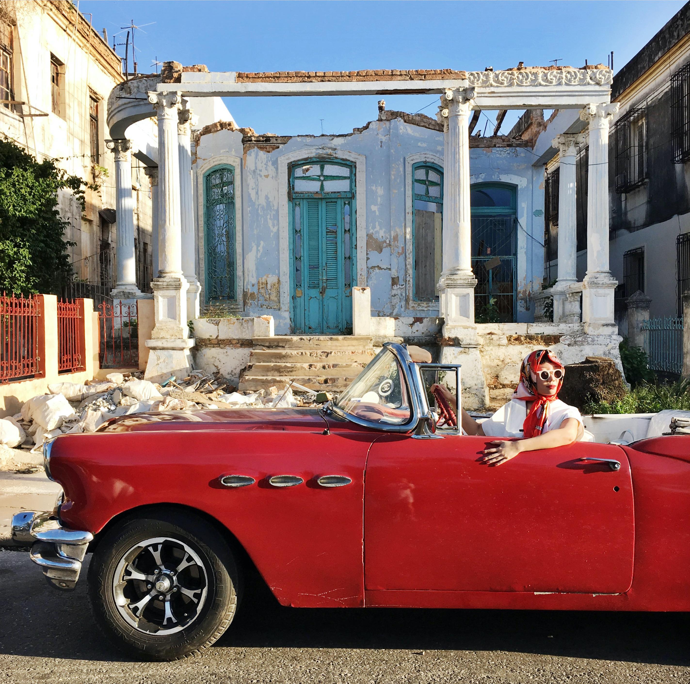 JiaJia Fei in Havana, Cuba for her 30th birthday, 2017