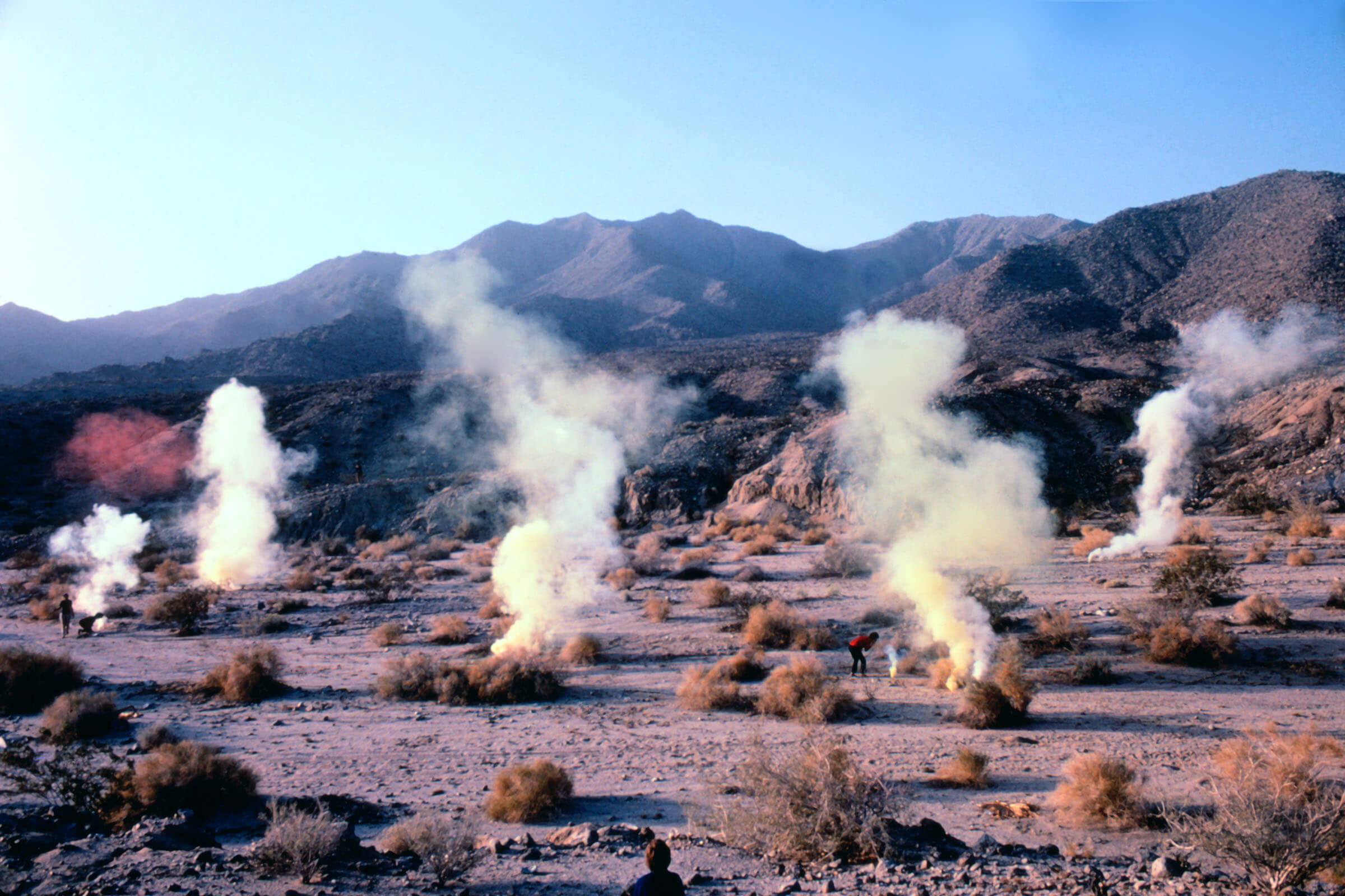 Judy Chicago, _Desert Atmosphere_, Palm Desert, CA, 1969/2020, 30 x 40 inches. Collection of the Nevada Museum of Art, Center for Art + Environment Archive Collections.