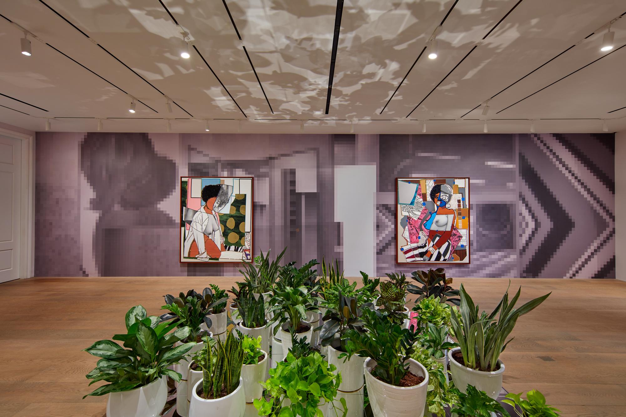 Installation view of 'Mickalene Thomas: Beyond the Pleasure Principle' at Lévy Gorvy, New York. © Tom Powel