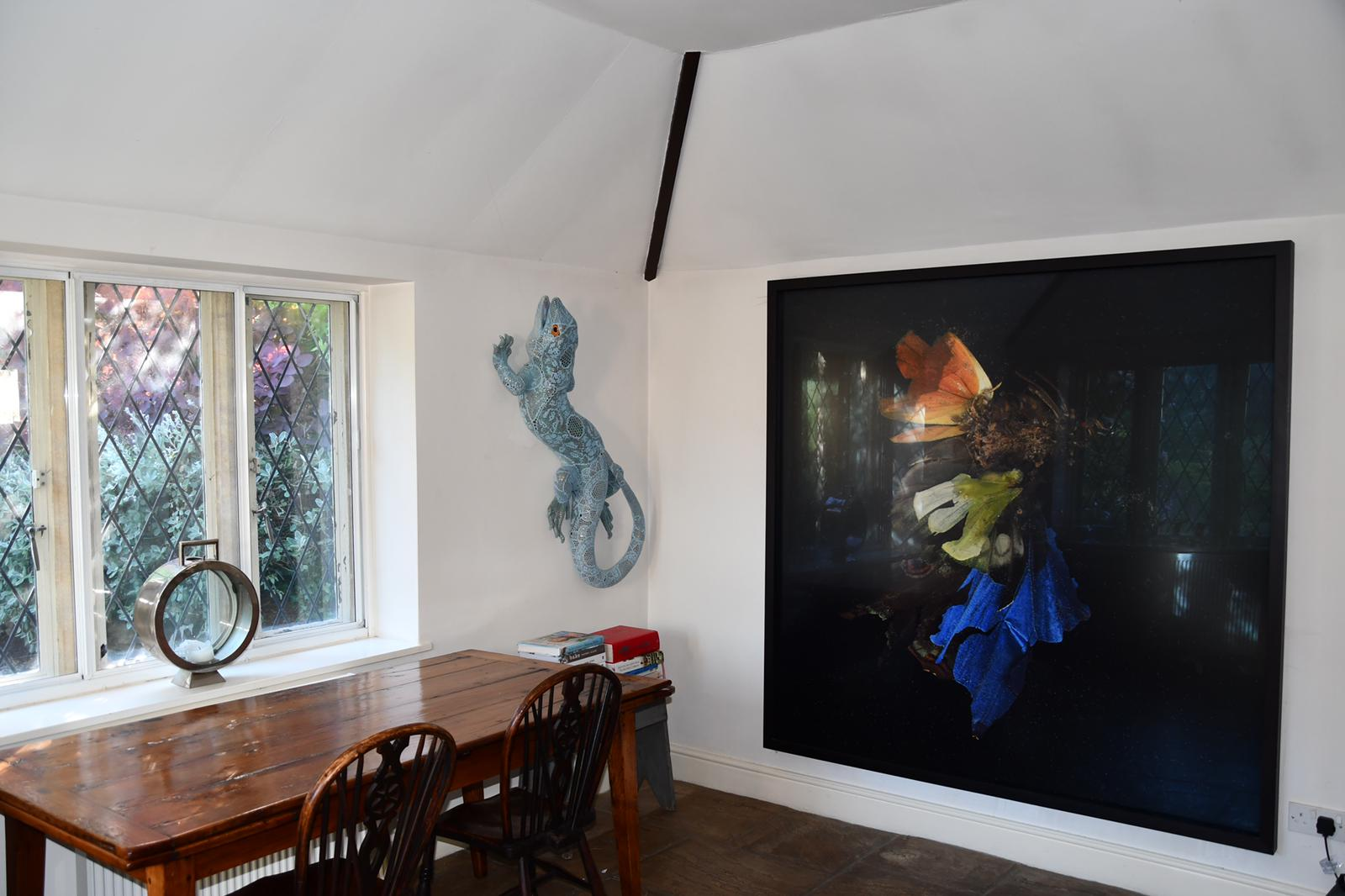 Art by Joanna Vasconcelos and Mat Collishaw in the home of Matt Carey-Williams