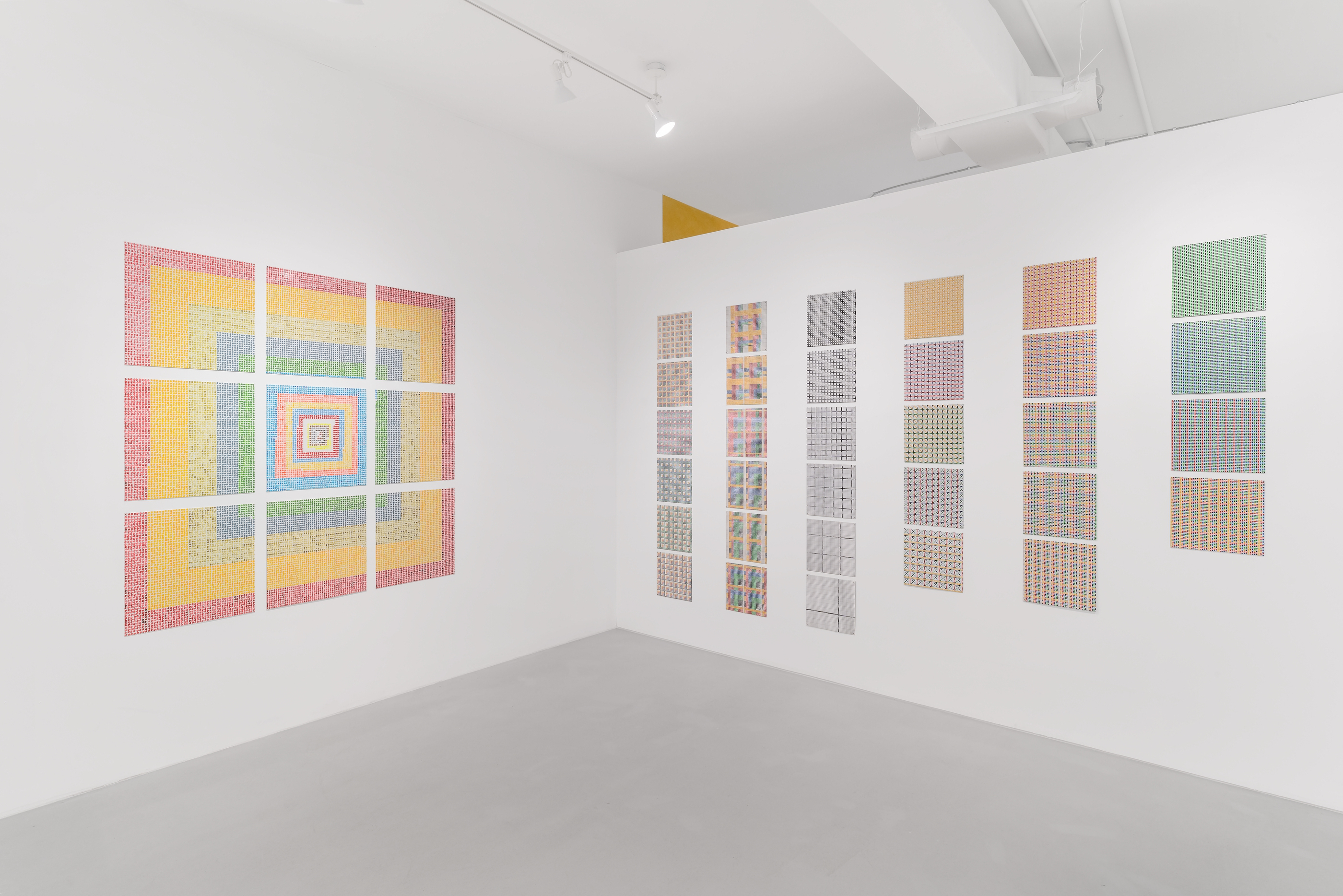 Installation view, Jennifer Bartlett: Grids & Dots, Paula Cooper Gallery, 243A Worth Avenue, Palm Beach, FL, January 16 – February 7, 2021. Photo: Michael Lopez with Zachary Balber.