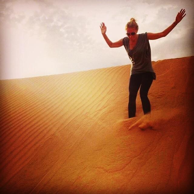 Sarah Arison on the film shoot for Desert Dancer in Morocco, 2012.