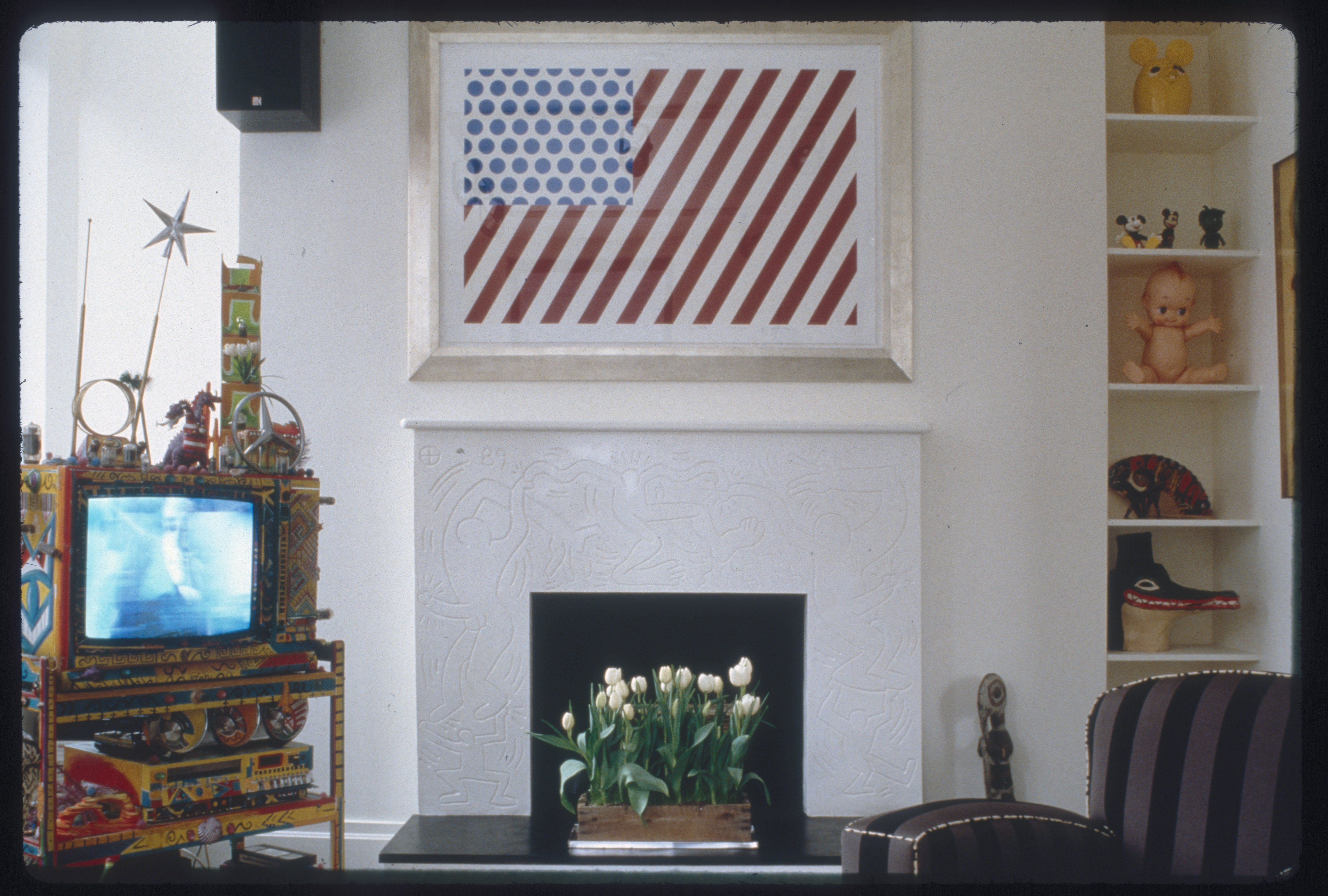 Roy Lichtenstein Forms in Space at Keith Haring apartment